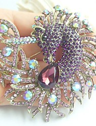 Women Accessories Gold-tone Purple Rhinestone Crystal Unicorn Horse Brooch Art Deco Scarf Brooch Pin Women Jewelry