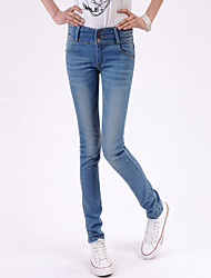 Women's Breasted Waist Jeans
