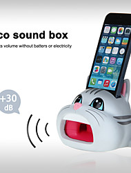 Cute Hands-Free Cat Sound Amplifier Stand Speaker Holder for iPhone 4/4S/5/5S/5C (Grey)