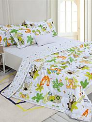Summer Quilts Full Size Cotton Fabrics Cartoon Design for Kids 110*150cm