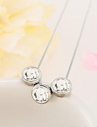 drei Kristall Halskette Schlüsselbein Kette übertrieben Mode