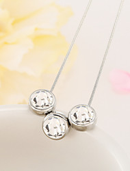 три кристалла ожерелье цепи ключицы преувеличены моды
