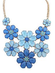 Women's Fashion Elegant Fresh Flowers Resin Necklace
