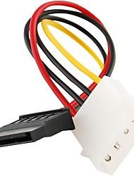 4 Pin IDE Molex to 15 Pin Serial ATA SATA Hard Drive Power Adapter Cable Cord