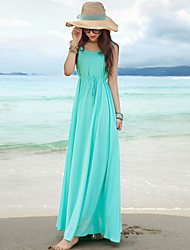 Vestidos ( Gasa )- Playa/Casual Sin Mangas para Mujer