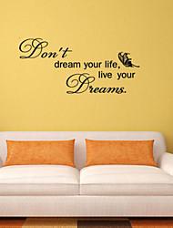 наклейки для стен стены наклейки стиль мечта английских слов&цитирует наклейки ПВХ стены