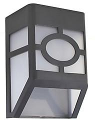 hry® 2LEDs luces solares de la lámpara blanca cerca de luz de color
