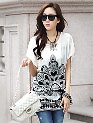 Mulheres Camiseta Manga Curta Nylon Mulheres