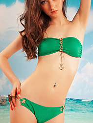 Sexy Bikinis Women's Beachwear Bandage Swimwear Strapless Golden Chain Accessory V21