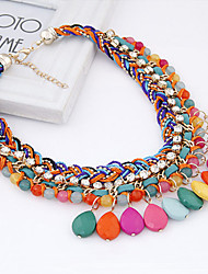 Women's Alloy/Rhinestone/Resin Necklace With Rhinestone/Garnet