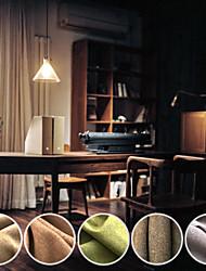 (Dos paneles) sala de oscurecimiento sencilla cortina sólida ropa de imitación de color (sin bola decorativa)