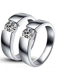 Solid Silver Pair Rings Jewelry 0.25CT SONA Simulate Diamond Rings Couple Jewelry Anniversary His and Her Propose Rings