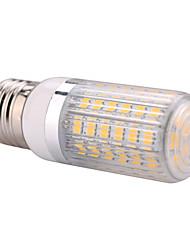 e27 15w 60x5730smd 1500LM 2800-3200K / 6000-6500K теплый белый / холодный белый свет водить мозоли шарик с полосатой крышкой (AC110 / 220v)