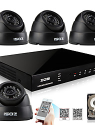 ZOSI® 700TVL 960H D1 HDMI 1TB HDD4CH H.264 DVR Kits  4x Indoor Day Night IR CCTV Camera Security System