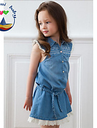 Girl's Summer Sleeveless Dresses (Cotton Blends)