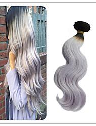 3Pcs/Lot Brazilian Body Wave Bundles Virgin Silver Grey Human Hair Weave For Black Women