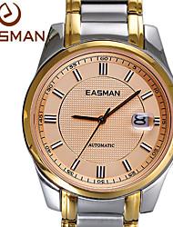 easman Markenuhr automatische mechanische Geschäfts goldene Uhr Luxus Saphir Armbanduhren