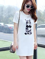 Women's Casual/Party/Work Short Sleeve Dresses (Knitwear)