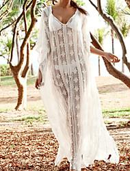 Women's Sexy/Beach/Lace/Maxi ½ Length Sleeve Maxi Dress (Lace)