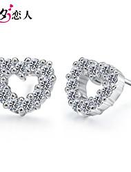 925 Sterling Silver Earrings Earrings Cute Girls Beckoning South Korea with Diamond Sterling Silver Earrings
