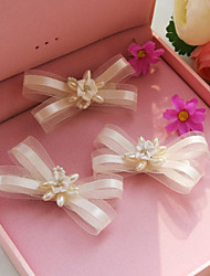 Pearl Barrette Clip Hair Flower Bride Hair Wedding Headdress