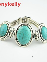 Women's Alloy Tennis With Turquoise Bracelet
