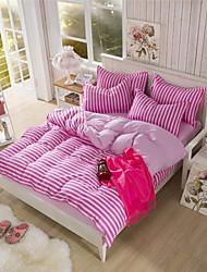 Pink Stripe Duvet Cover Sets for Girls