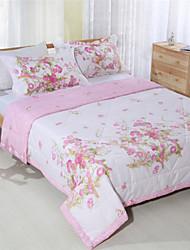 Floral Summer Quilts Pink Bedding for Girls Handmade Patchwork Quilt