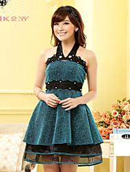 Women's Fashion Dress Strapless Halter Bridesmaid/ Party Dress