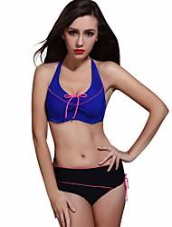 Foclassy Women's Push up Plus Size Sport Bikini Halter Top Big Cup Swimwear