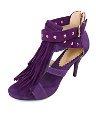Women's Shoes Cone Heel Slingback/Comfort Sandals Outdoor/Office & Career/Dress/Casual Black/Blue/Purple/Red