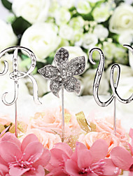 Cake Topper Non-personalized Monogram Chrome Anniversary / Bridal Shower / Baby Shower / Quinceañera & Sweet Sixteen / Birthday / Wedding
