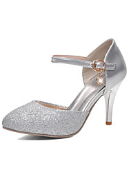 Women's Shoes Stiletto Heel Pointed Toe Pumps/Heels Party & Evening Silver/Gold