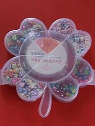 beadia acrylique perles bricolage couleur assortie et la forme dans la boîte enfants toy plastique pour la fabrication de bijoux bracelet