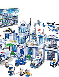 blocs banbao 8353 la ville de la série de la police des blocs de puzzle pour enfants jouet police modèle de scène 4-15