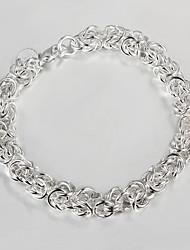 argento placcato braccialetto casuale link / catena 925 braccialetti d'argento del braccialetto delle donne braccialetti amp