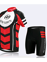 Ladies Red Sky Short Sleeved Riding Clothes Suit, Breathable Quick Dry Women's Bicycle Service