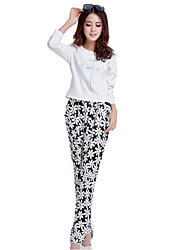Women's Print Black Harem Pants , Casual