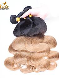 "3Pcs/Lot 10""-26"" Malaysian Virgin Hair Color 1B27 Body Wave Human Hair Bundles"