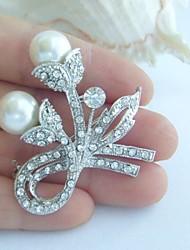 Wedding Accessories Silver-tone Pearl Rhinestone Bridal Brooch Wedding Deco Bridal Bouquet Wedding Brooch Bridal Jewelry
