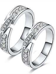 New Arrival SONA Simulate Diamond Couple Ring Jewelry Engagement His and Her Sterling Silver Ring for Couple Pt950 Print