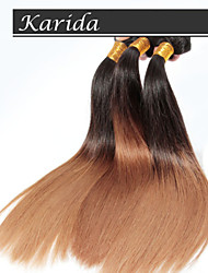 4 Pcs/Lot Ombre Hair Wholesale Brazilian Hair, Unprocessed 100% and Soft Straight Brazilian Ombre Hair