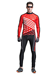 Riding Bicycle Service Men's Clothing Set Speed Long Sleeved Star Flag Of Surrender