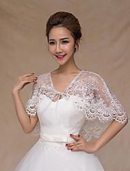 Wedding Wraps Capelets Lace/Tulle Beautiful Bride Wraps White