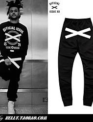 23,99 = $ 2014 novo mini nelly marca oficial questão xo hiphop moda xx skate calças harem pants casuais homens mulheres 100% algodão!