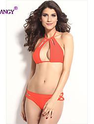 syu®Women's Wireless Solid/Bandage Halter Bikinis (Polyester/Spandex)