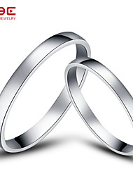 NBE Sterling Silver Ring Couple Rings/Midi Rings/Band Rings/Statement Rings Wedding/Party/Daily/Casual/Sports 1pair