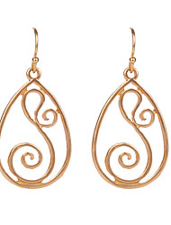 2015 New Fashion Ethnic Water Drop  Exaggerated Pendants Statement Drop Earrings Jewelry for Women
