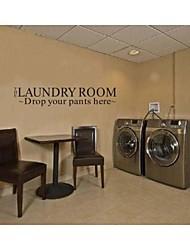 lavanderia governa casa decoração da parede decalque zy8106 Adesivo de Parede de vinil adesivo de parede removível