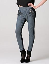 Feest/Werk - Katoen/Spandex/Polyester/Nylon - Inelastisch - Jeans - Broek - Vrouwen